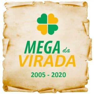 Mega da virada todos os resultados de 2005 a 2020