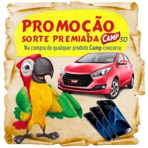 Promoção sorte premiada Camp 3D