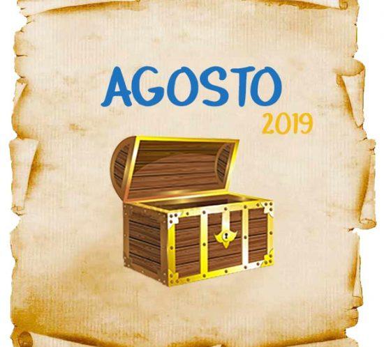 Promoções e concursos culturais em agosto de 2019